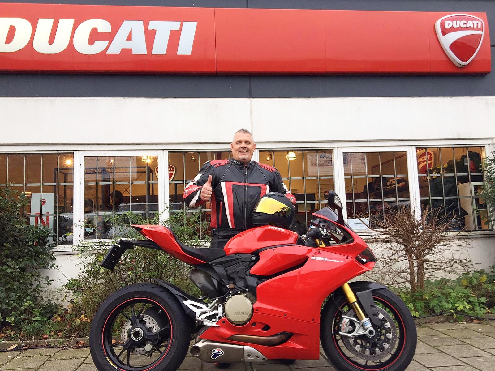 Panigale 1199 S van Ducati in Amsterdam gekocht